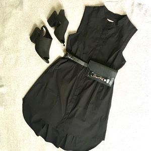 Milly cotton blend sleeveless shirt dress Size:L